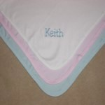Soft Cotton Knit Blanket with Name Only