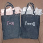 Denim Totes with Name