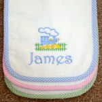 Gingham Trimmed Burp Cloth
