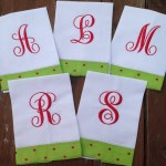 Holiday Linen Guest Towel with Initial